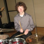 East High Jazz Combo drummer smiling