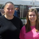 2010 Recipient Nicole Tackes, attending Madison College, and 2009 Recipient Tara Hoffman, attending UW-Whitewater